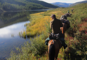 Khentii Mountains Wilderness. Horseback riding adventures in Mongolia