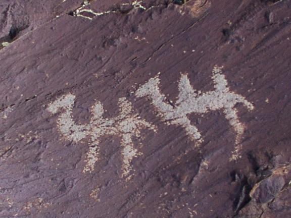 Mongolia, ancient petroglyph rock art, camels