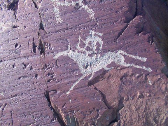Horse Riding Mongolia on ancient rock art, petroglyphs, eco tourism Mongolia