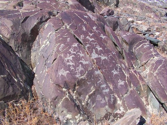 ancient petroglyphs, Mongolia, Bayan Olgii province