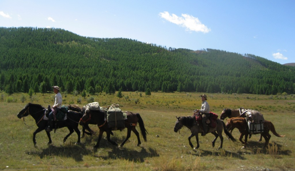 On a holiday ride in Mongolia's Gorkhi Terelj National Park