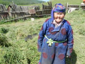 True herder woman in Mongolia