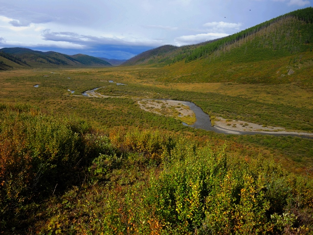 The origin of the Tuul River in the Khentii Mountains, as seen by trail riders with Stone Horse Expeditions