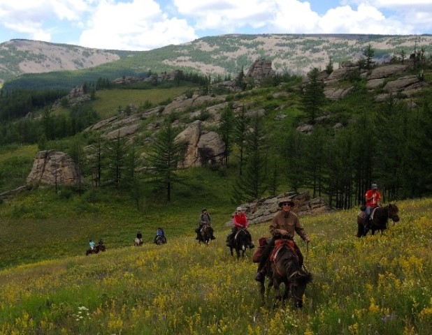 Gorkhi-Terelj National Park offers fantastic horseback riding country, explored on Stone Horse Expeditions