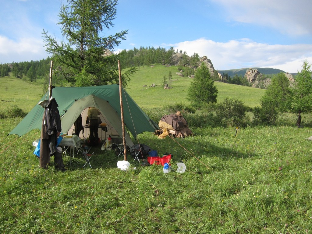 Camp kitchen, Gorkhi-Terelj National Park, Mongolia