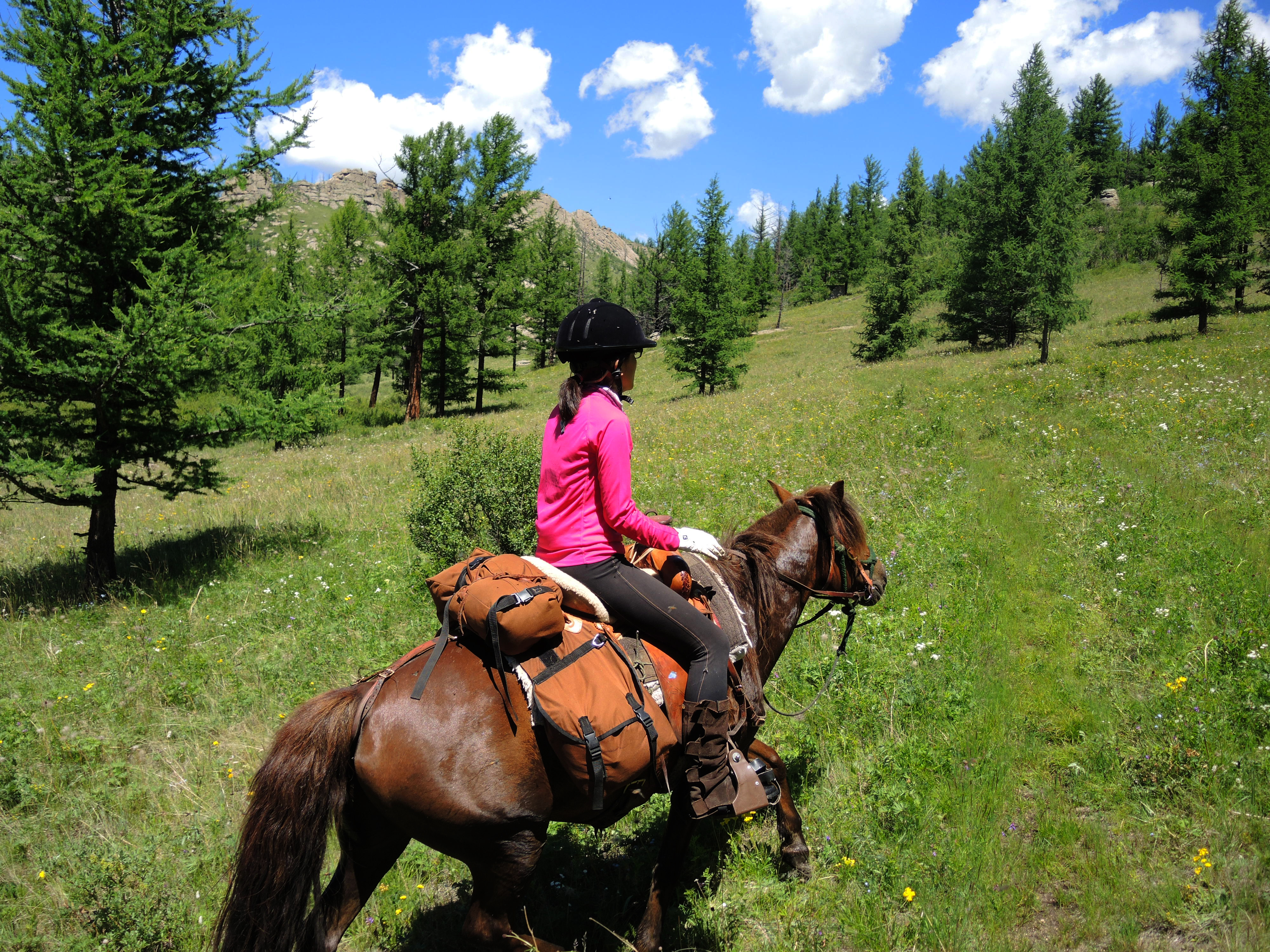 Horse Riding Mongolia in Gorkhi Terelj National Park with Stone Horse Expeditions