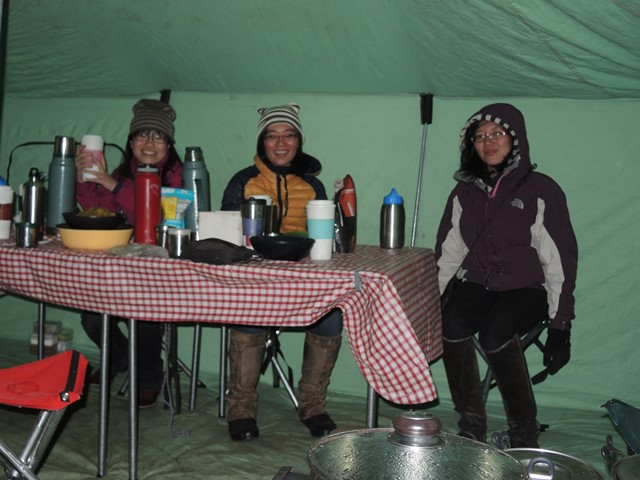 Heated wall tent for comfortable horse trek camping in Mongolia, with Stone Hores Expeditions
