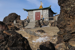Gobi Desert Tour, Temple. Buddhism, Mongolia Gobi