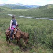 Horseback travel in the Khongor River valley