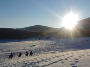 A Winter Ride in Mongolia, Stone Horse Expeditions, Winter Sun