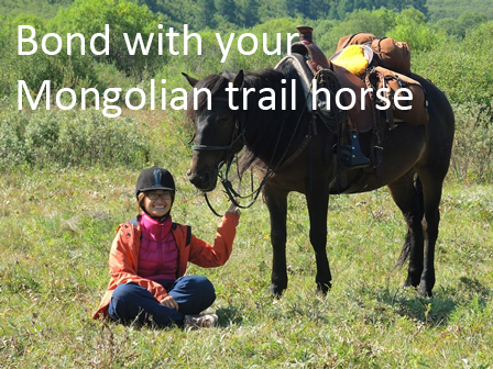 Bond with your Mongolian trail horse on a horse riding trek in Mongolia_1