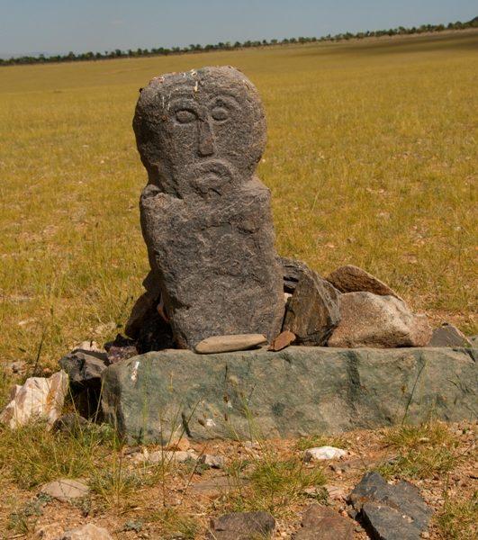 A bronze aged sculpture in the Mongolian Gobi