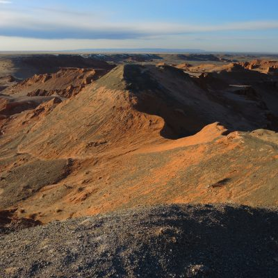 Baynzag, site of important dinosaur findings, Flaming Cliffs