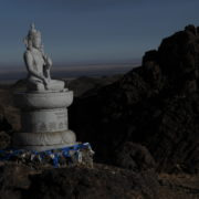 Buddhist statue in the Gobi