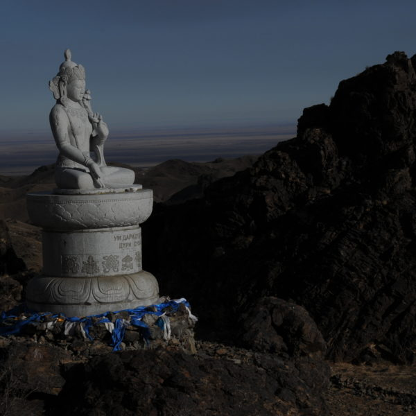 Gobi Gurvan Saikhan National Park, Buddhist statue, Gobi, Mongolia