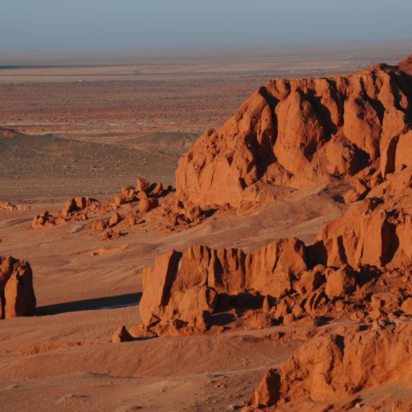 Flaming Cliffs, Baynzag in Mongoloia's Gobi Desert