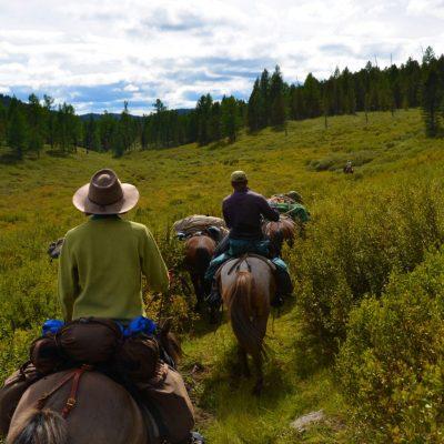 wilderness horseback riding in Mongolia
