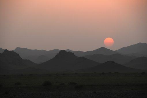 Desert Sunset, Gobi Desert, Mongolia