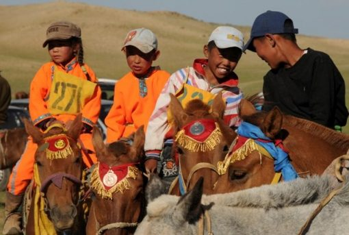 Naadam horse race, Gobi desert, Mongolia,, Naadam Festival
