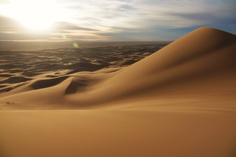 Mongolia's Gobi - Making the Sands Sing, Khongoryn Els in evening light