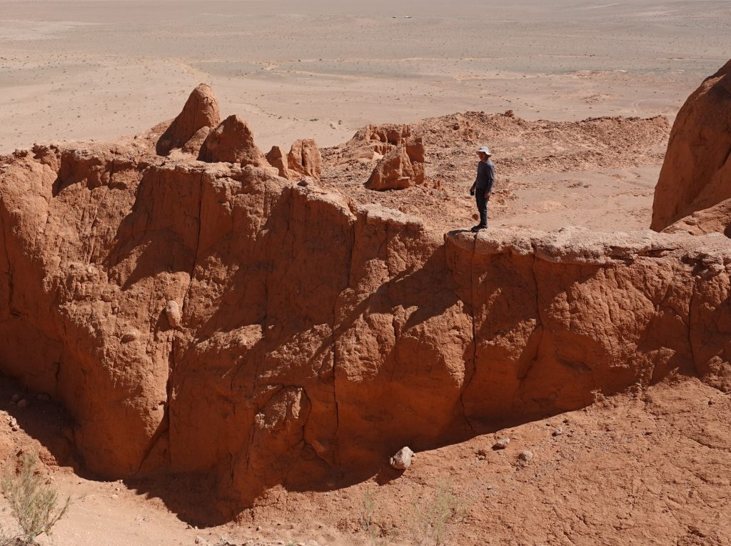 At the Flaming Cliffs in Mongolia's Gobi
