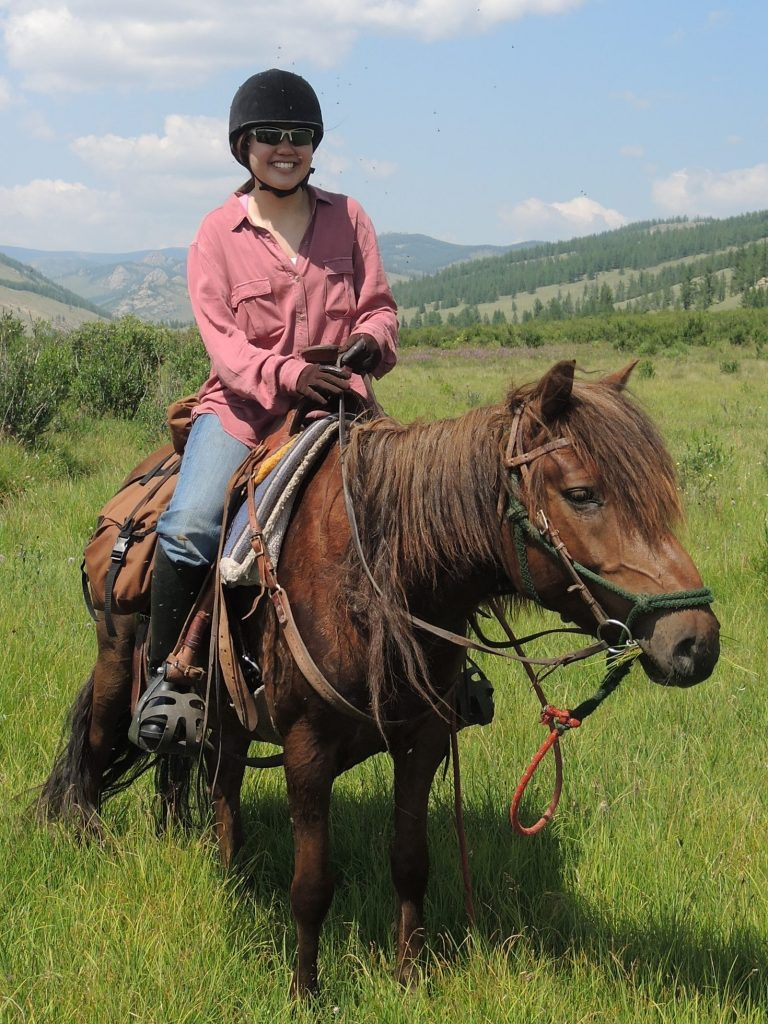 Michelle Ho, Riding Guest, Mongolia, Stone Horse