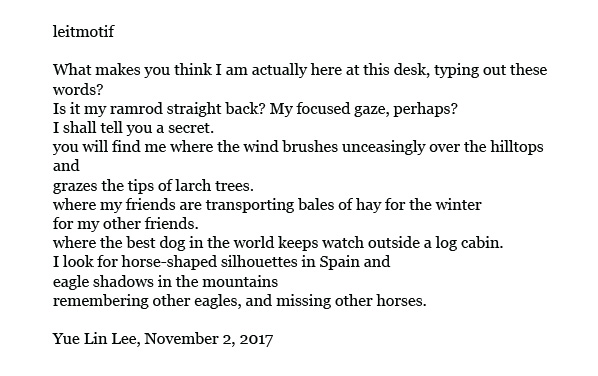 poem by Yue Lin Lee, on travels in Mongolia