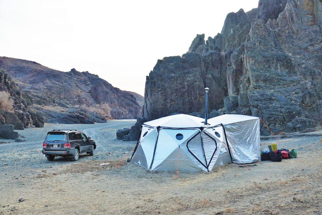 Winter Camping in Mongolia's Gobi